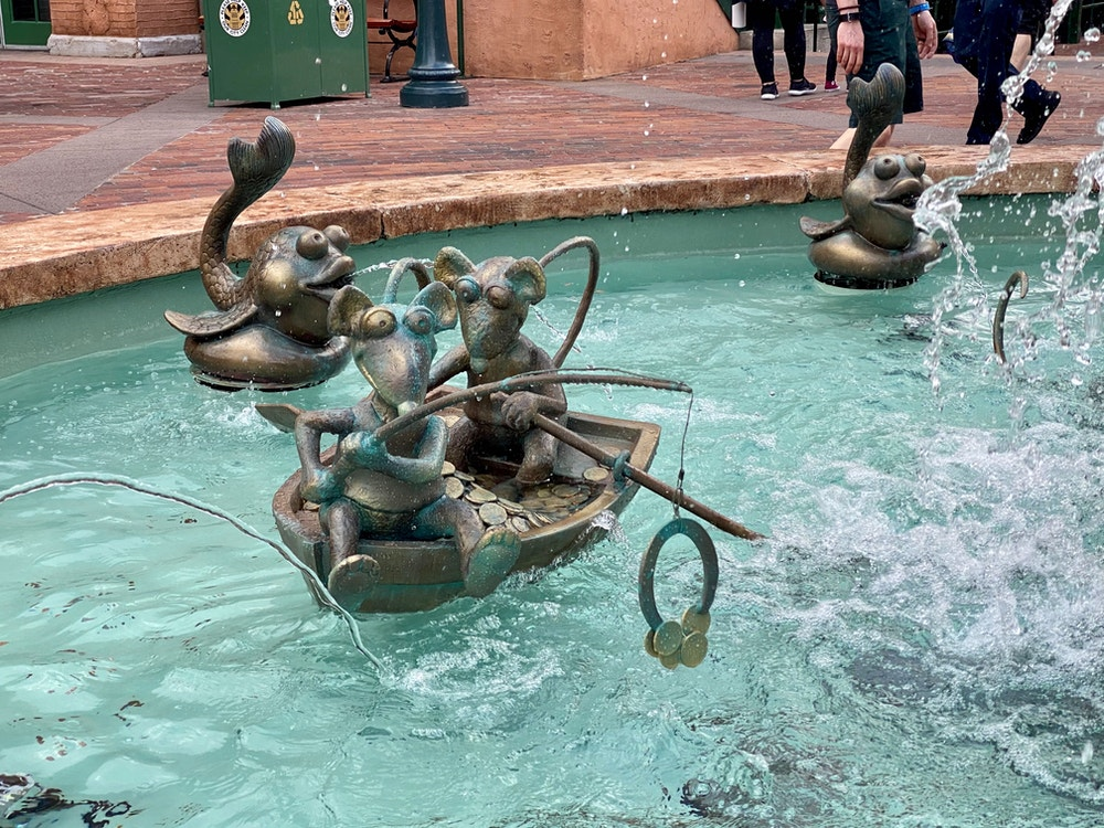 fishing rats muppets fountain