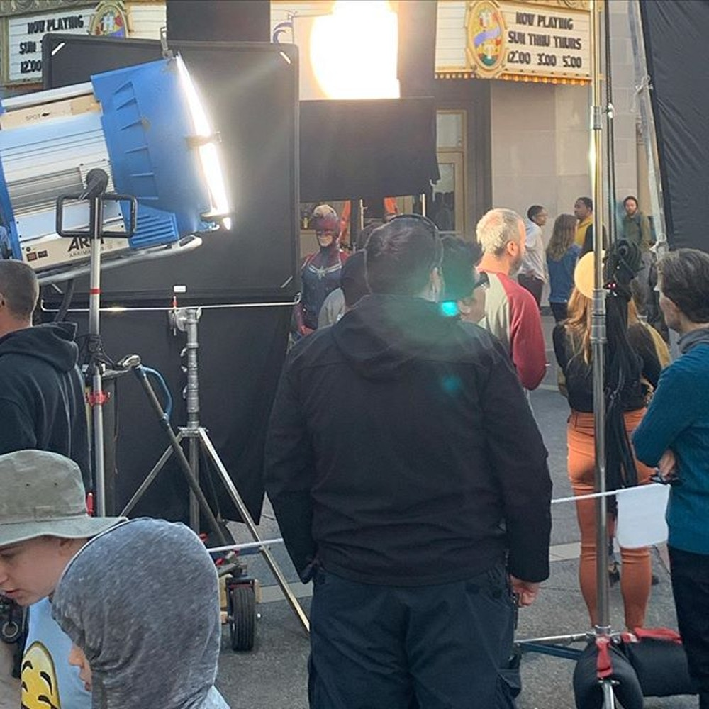Marvel Promo Filming DCA