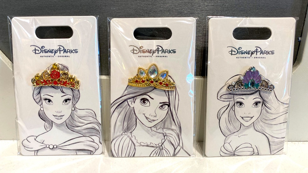 princess crown pins