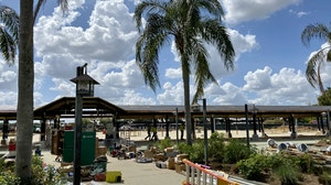 Construction to the entrance area of Disney's Animal Kingdom has been underway for some time now, and has had some significant visual progress recently. We stopped by for an extensive photo tour of outside and inside the scrimmed off area.