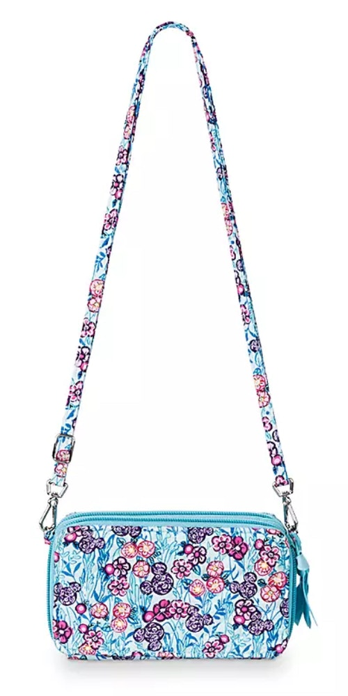 colorful garden vera bradley crossbody wristlet