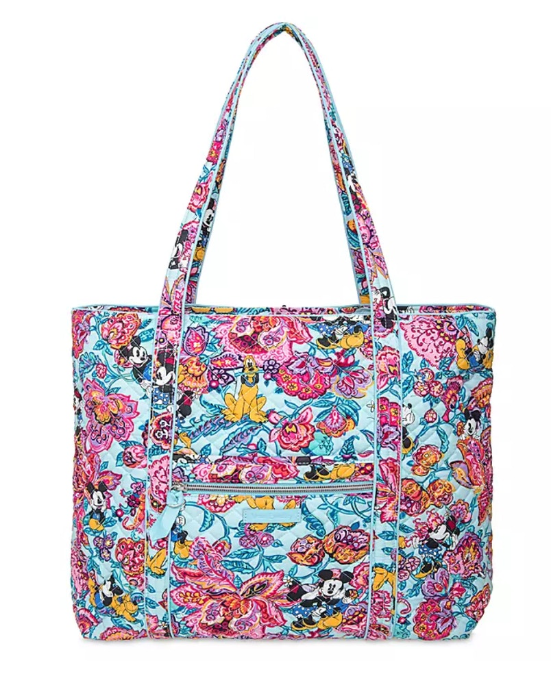 colorful garden vera bradley iconic tote