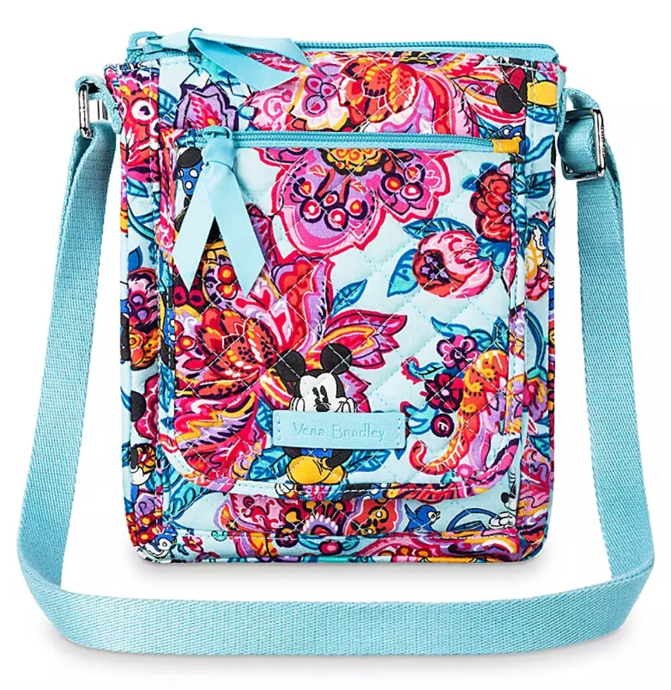 colorful garden vera bradley mini hipster bag