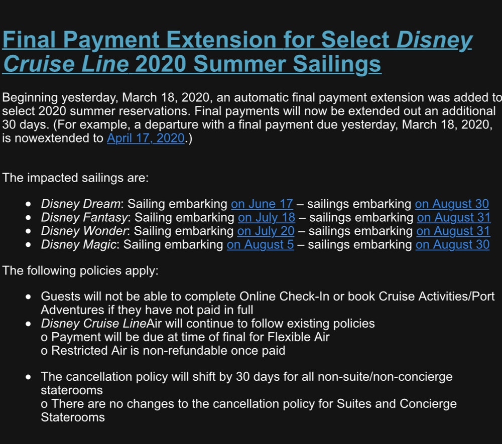 cruise line extension
