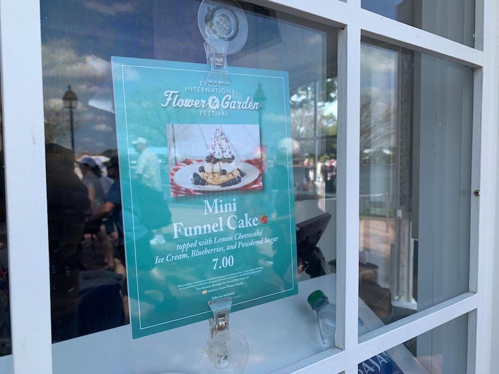Funnel cake menu f&w2020